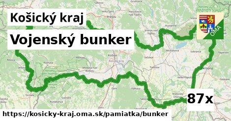 vojenský bunker v Košický kraj