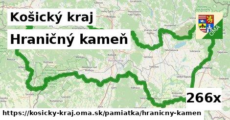 hraničný kameň v Košický kraj
