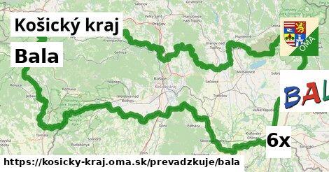 Bala v Košický kraj