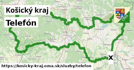 telefón v Košický kraj