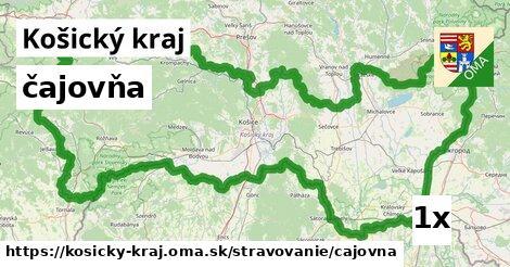 ilustračný obrázok k čajovňa, Košický kraj