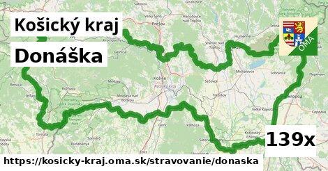 donáška v Košický kraj
