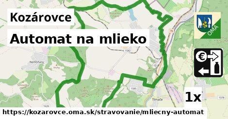 automat na mlieko v Kozárovce