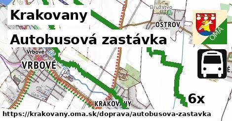 autobusová zastávka v Krakovany