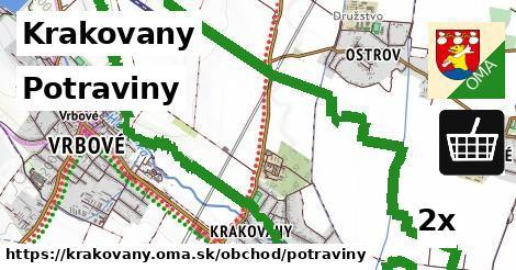 potraviny v Krakovany