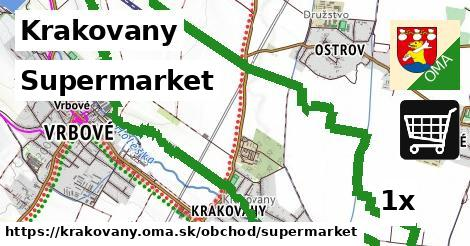 supermarket v Krakovany