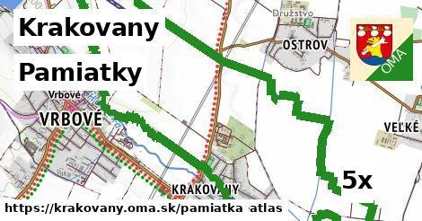 pamiatky v Krakovany