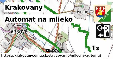 automat na mlieko v Krakovany