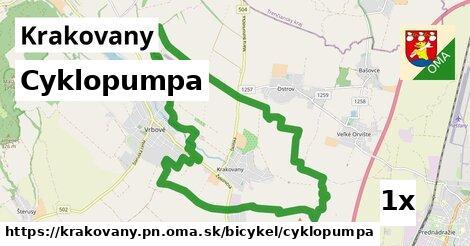 cyklopumpa v Krakovany, okres PN