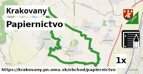 papiernictvo v Krakovany, okres PN