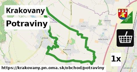 ilustračný obrázok k Potraviny, Krakovany, okres PN