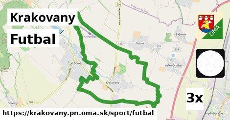 futbal v Krakovany, okres PN