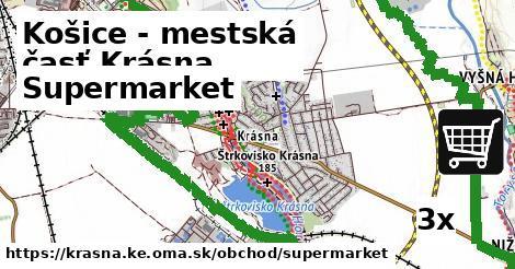 supermarket v Košice - mestská časť Krásna