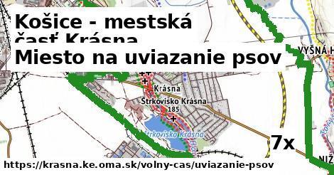 ilustračný obrázok k Miesto na uviazanie psov, Košice - mestská časť Krásna