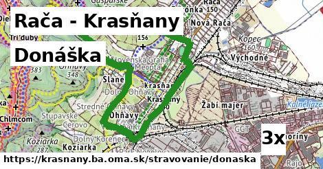 donáška v Rača - Krasňany