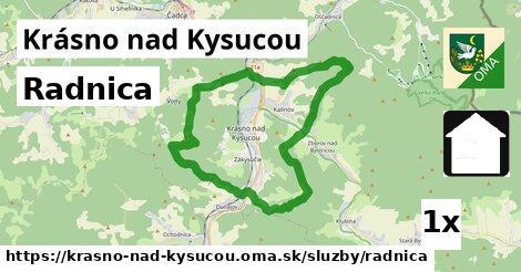 ilustračný obrázok k Radnica, Krásno nad Kysucou