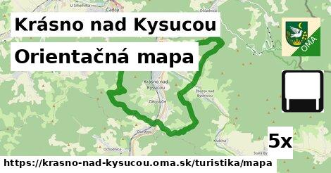 ilustračný obrázok k Orientačná mapa, Krásno nad Kysucou