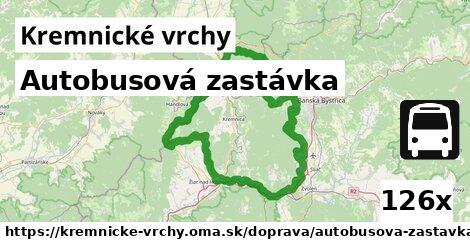 ilustračný obrázok k Autobusová zastávka, Kremnické vrchy