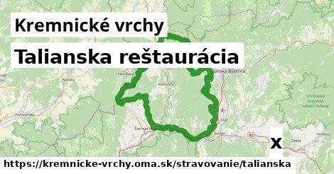 ilustračný obrázok k Talianska reštaurácia, Kremnické vrchy