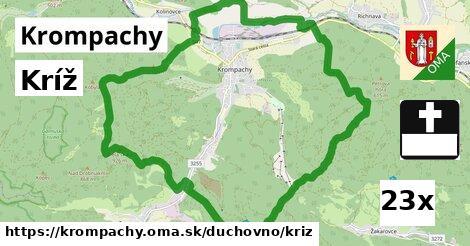 kríž v Krompachy