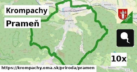 prameň v Krompachy
