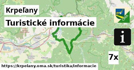 turistické informácie v Krpeľany