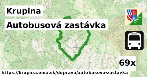autobusová zastávka v Krupina
