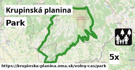 ilustračný obrázok k Park, Krupinská planina