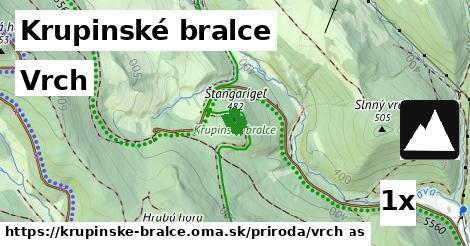 vrch v Krupinské bralce