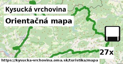 ilustračný obrázok k Orientačná mapa, Kysucká vrchovina