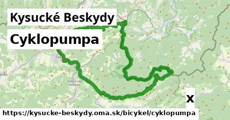 ilustračný obrázok k Cyklopumpa, Kysucké Beskydy