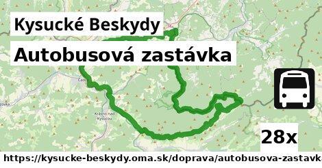 ilustračný obrázok k Autobusová zastávka, Kysucké Beskydy