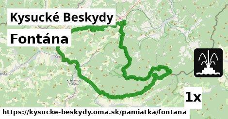 ilustračný obrázok k Fontána, Kysucké Beskydy