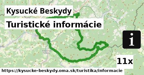 ilustračný obrázok k Turistické informácie, Kysucké Beskydy