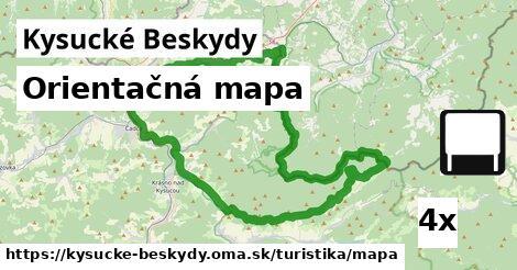 ilustračný obrázok k Orientačná mapa, Kysucké Beskydy