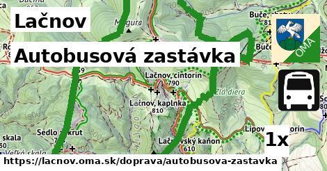 autobusová zastávka v Lačnov