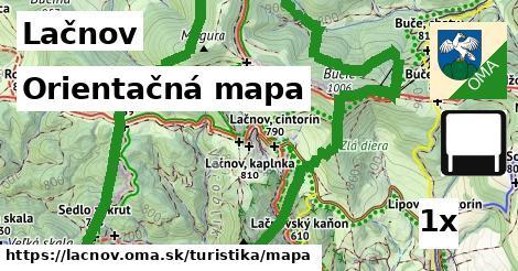 orientačná mapa v Lačnov