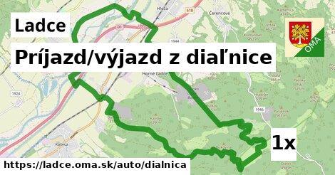 príjazd/výjazd z diaľnice v Ladce