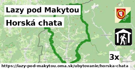 horská chata v Lazy pod Makytou