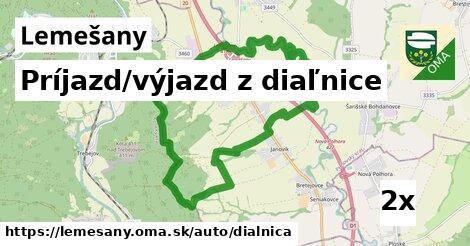 ilustračný obrázok k Príjazd/výjazd z diaľnice, Lemešany