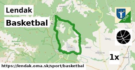 basketbal v Lendak
