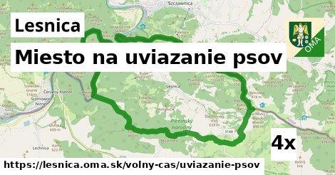 miesto na uviazanie psov v Lesnica