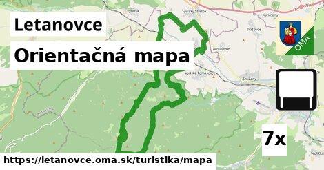 orientačná mapa v Letanovce