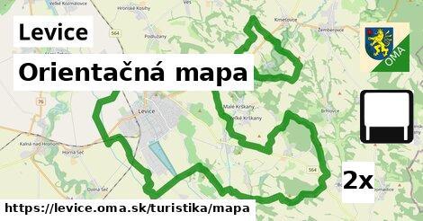 orientačná mapa v Levice