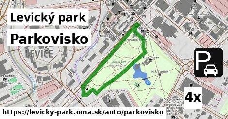 ilustračný obrázok k Parkovisko, Levický park