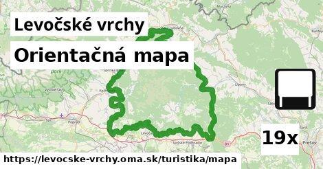 ilustračný obrázok k Orientačná mapa, Levočské vrchy