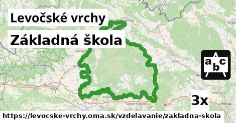 ilustračný obrázok k Základná škola, Levočské vrchy