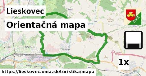 ilustračný obrázok k Orientačná mapa, Lieskovec