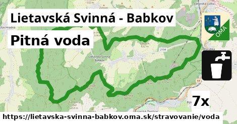 pitná voda v Lietavská Svinná - Babkov