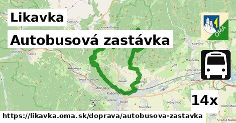 autobusová zastávka v Likavka